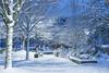 Silence (littlekiss☆) Tags: snow nobody night midnight nightscape vancouver littlekissphotography