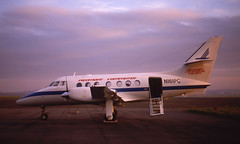 N161PC. Piedmont Commuter British Aerospace Jetstream 3101 (Ayronautica) Tags: n161pc piedmontcommuter britishaerospacejetstream3101 turboprop aviation ayronautica prestwick egpk pik november 1985 scanned jetstream31 sunbirdexpress 675