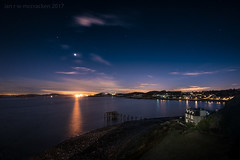 Close To The Edge (ianrwmccracken) Tags: lights fife mars sky river pier hawkcraig sea aberdour venus planet star reflection forth