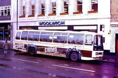 Slide 091-90 (Steve Guess) Tags: notts nottinghamshire england gb uk bus cameo camera advert leyland leopard duple city