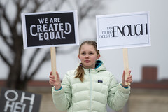 Women's march against Donald Trump (Fibonacci Blue) Tags: stpaul protest march woman women demonstration event dissent feminism outcry feminist activism outrage twincities activist minnesota trump republican girl sign equal equality enough gop liberal