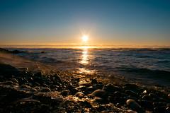 2017 Day 15 (Travis Anderson 30) Tags: sunrise minnesota northcoast orange rocks shore fog morning 365 project365