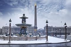 Place de la concorde - Paris sous la Neige (www.antoniogaudenciophoto.com) Tags: placedelaconcorde place de la concorde paris france palais antoniogaudencio obélisque neige