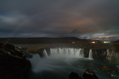 Moonbow over Godafoss (Andrew Rhodes Photography) Tags: iceland weatherphotography waterfall astrophotography godafoss northerniceland goðafoss weather september moonbow northeasternregion is