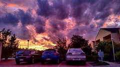 Spectacular Canberran sunset. (Steve J Chivers) Tags: sunset canberra phonephotography australia galaxys5 samsung phone smartphone