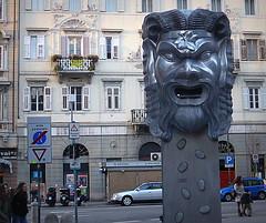 IL MASCHERONE. (Skiappa.....v.i.p. (Volentieri In Pensione)) Tags: fontana mascherone trieste arte grottesco monumento panasonic lumix skiappa