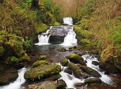 Farley Water Falls, Watersmeet (nrich1050) Tags: olympus omd em5 mzuiko zuiko m17mm f18 farley water watersmeet north devon waterfall river falls woodland