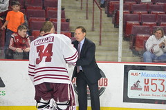 Hockey vs. Providence 2/24 (dailycollegian) Tags: hockey providence umassathletics umass umassamherst universityofmassachusetts jessicapicard 22417 mullinscenter coach greg carvel 34 alex wakaluk