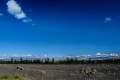 Volcanoes Under Blue Sky
