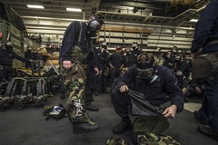 150617-N-IC565-027 (U.S. Pacific Fleet) Tags: navy calif marines arg biological gq chemical ussessex westpac westernpacific 15thmeu generalquarters mcu2pgasmask lhd2 ussessexlhd2 cpr3 bradleyjgee andradiologicaltraining