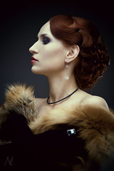 Royal red (n_lev44) Tags: portrait woman beautiful beauty closeup proud female adult profile young makeup redhead attractive cosmetics caucasian