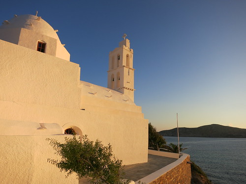 Church near mouth of Port, Ios