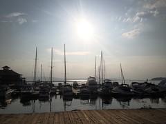 IMG_2057 (MJO'B) Tags: light sky sun sunlight lake clouds boats island daylight dock vermont day bright swings sunny sail boardwalk motorboats sailboats boathouse illuminate