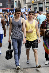 094A3115 v2 (Wheels Down) Tags: nyc friends cute arms legs flag crowd smooth adorable streetphotography handsome pride twink tanktop shorts hottie shoulders singlet