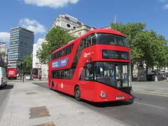 LT310, Trafalgar Square, London, 13/05/15 (aecregent) Tags: london trafalgarsquare wright hybrid lt 453 londongeneral goahead nb4l nbfl newroutemaster goaheadlondon 130515 newbusforlondon borismaster lt310 ltz1310 londonbuses2015