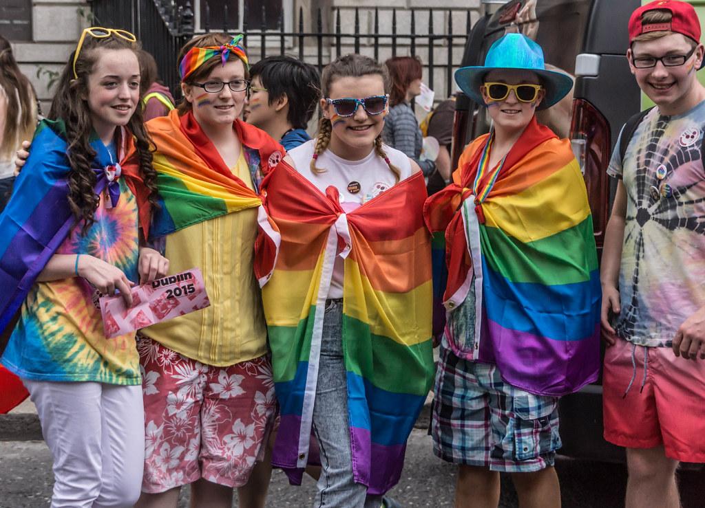DUBLIN 2015 GAY PRIDE FESTIVAL [BEFORE THE ACTUAL PARADE] REF-106263