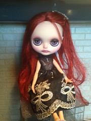 My 1st official FA custom BLYTHE ~by meee- her name is ONYX (Royal Soliloque base)