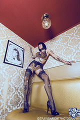 Lauren Stone 3 (TravisHaight) Tags: stockings beauty tattoo oregon canon portland glamour lingerie location tattoos heels mk2 5d brunette dslr pinup mkii tattooed animalprint thighhigh laurenstone travishaight travishaightphotography