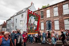 Durham Miner's Gala (Cerdic Elesing) Tags: england durham unitedkingdom object banner marching gala num tuc countydurham minersgala bigmeeting durhamminersassociation kodakektar xequals clipstonebranch
