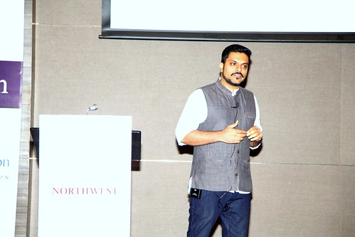 Rahul Alex Panicker delivering keynote on Innovation - Story of impact