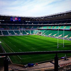 Preparation for tomorrow's game is done... (Max Barson) Tags: twickenham 6nations comeonengland jobperk uploaded:by=flickstagram instagram:photo=94005432460331830442230827 engvscot