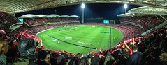You'll Never Walk Alone (*ScottyO*) Tags: panorama sport night scarf liverpool lights football stadium soccer south australia adelaide sa fans reds southaustralia oval supporters iphone liverpoolfc adelaideoval adelaideunited