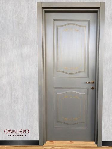 Porta interna decorata a mano