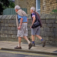 Hebden Bridge: It's That Sort of... (thephilosopherstoned) Tags: flowers pets dogs hippies candid yorkshire streetphotography documentary abandon hikers relaxed walkers flowerpower easygoing laidback pensioners hebdenbridge copulation doggiestyle growingwild documentaryphotography freespirits greyhairedmen uploaded:by=flickstagram instagram:photo=1044256380692919449311672236