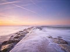 Awash (Andrew H-W) Tags: andrewhaywardwills 2016 december 27 dorset hengisburyhead groyne long sunrise winter hightide waves beach tripod 06grad 06nd filter