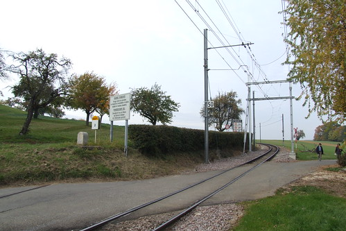 Tram track heading towards France, 29.10.2011.