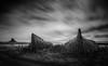 Lindisfarne Boats (Dave Holder) Tags: lindisfarnecastlenorthumberlandmilky lindisfarnecastle northumberland castle holy island holyisland boats blackandwhite landscape canon mono longexposure