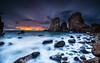 Stones & Company  [ explore 31|12|2016 ] (marcolemos71) Tags: seascape sea water waves atlanticocean rocks stones sky clouds sunset longexposure leefilters leesw150 leend09h leebigstopper malhadalouriçal sintra caboroca marcolemos