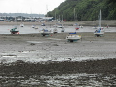 Beached (daveandlyn1) Tags: boats mud lowtide trees buildings anglesey northwales beaumaris menaistraits sx30is powershot canon yachts