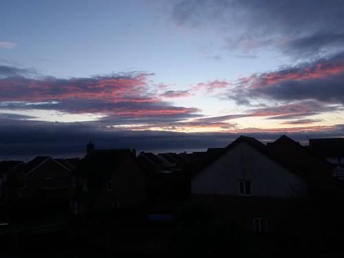 January sunset  South Wales.