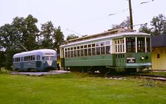 Capitol Transit #1053 & DC Transit #766 (en tee gee) Tags: trolleys streetcar maryland museum