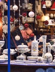 Concentration of the painter (alcowp) Tags: ceramics shop faïence art painter seinemaritime normandie normandy rouen france