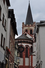 Abside de l'église romane St Peter (XIIIe), Bacharach, landkreis Mainz-Bingen, Rhénanie-Palatinat, Allemagne.