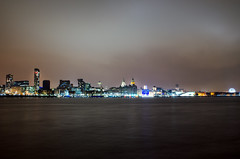 Liverpool Skyline from Seacombe (Ross_Harding) Tags: liverpool skyline landscape nigh long exposure nikon 35mm d7000 18 young photographer wirral uk birkenhead river mersey cloud cold