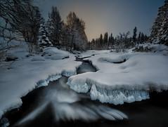 Open river (Explored) (strupert) Tags: newfallen wideangle powder longexposure ice lee ndfilter nikon winter river littlestopper meråker norway wow