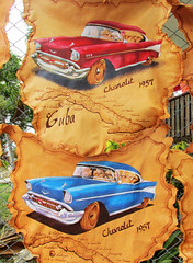 Classic Car Paintings on Leather, Cuban Art (shaire productions) Tags: travel pic picture photo photography image imagery cuba cuban art artwork artistic city urban
