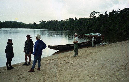 We stop for a break at a sandy beach in the jungle on the Rio Negro