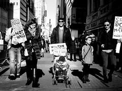 Women's March Family (jc.street) Tags: women's march nyc new york city 2017 donald trump donaldtrup president election protest worldwide patriotic patriotism signs sign commanderinchief january 21st 21 protester solidarity womens rights freedom political life equality equal family stroller baby pusher olympus m43 omd em5 sigma 30mm f28 28 thirds four micro black lens digital white bw