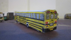 X280 - Monark Bus M102 (THE THIRD) (Etienne Luu) Tags: monark student transportation corporation blue bird all american a3 fe paper cardstock model bus school