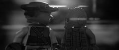 bounty hunters mystery (monochrome) (jooka5000) Tags: starwars lego greedo boushh bountyhunters cinematic frame toys toyphotography diorama incamera photography dialogue blackandwhite lensflare handmade