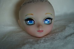 The new, old Niji (SteffiDollies) Tags: pink blue red green face make up yellow doll candy pullip custom rainbox faceup