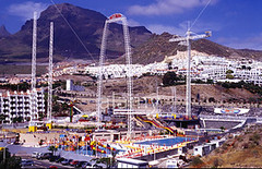 Sky Park (kirbycolin48) Tags: park travel vacation costa holiday sports islands site jumping action extreme rush tenerife theme rides bungy canary thrills thrill overview skypark adrenalin adeje