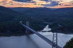 On the Nose (ericwill) Tags: railroad bridge sunset ny newyork train nose bearmountain hudsonriver hudson anthonys csx riverline