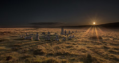 Down Tor Stone Circle (explored) (yadrad) Tags: southwest sunrise devon granite dartmoor stonecircle westcountry stonerow the dartmoornationalpark southdartmoor downtorstonerow downtorstonecircle