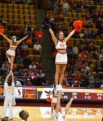 CHEERIN' FOR THE HOKIES (SneakinDeacon) Tags: vt vatech hokies virginiatech cassellcoliseum cheerleaders basketball hawks marylandeasternshore