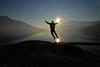 E saltiamo dentro un Nuovo Anno! Buon 2017 a tutti voi! (illyphoto) Tags: photoilariaprovenzi comolake lakecomo salto jump tramonto sunset lagodicomo